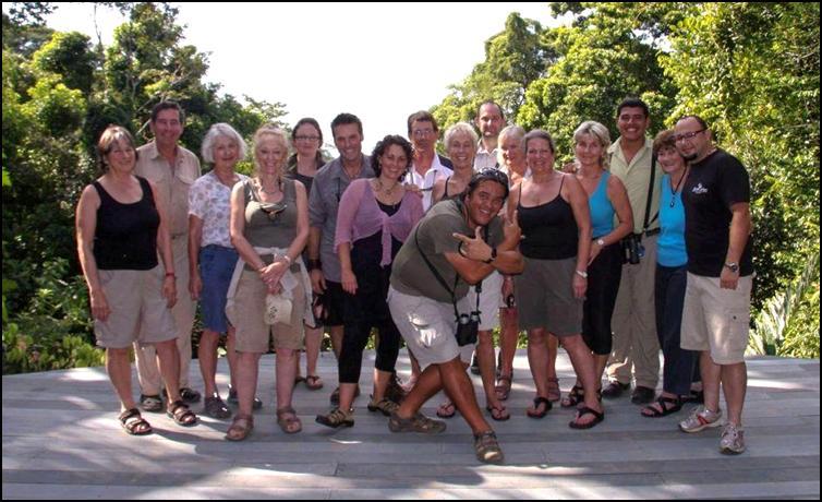 Group at the wonderful Luna Lodge on the Osa Peninsula