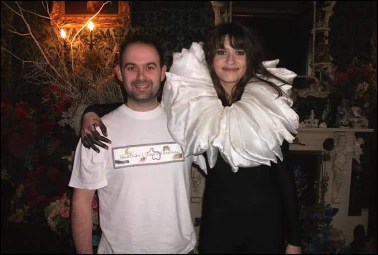 Jonathan at video shoot for 'I Am Harlequin'