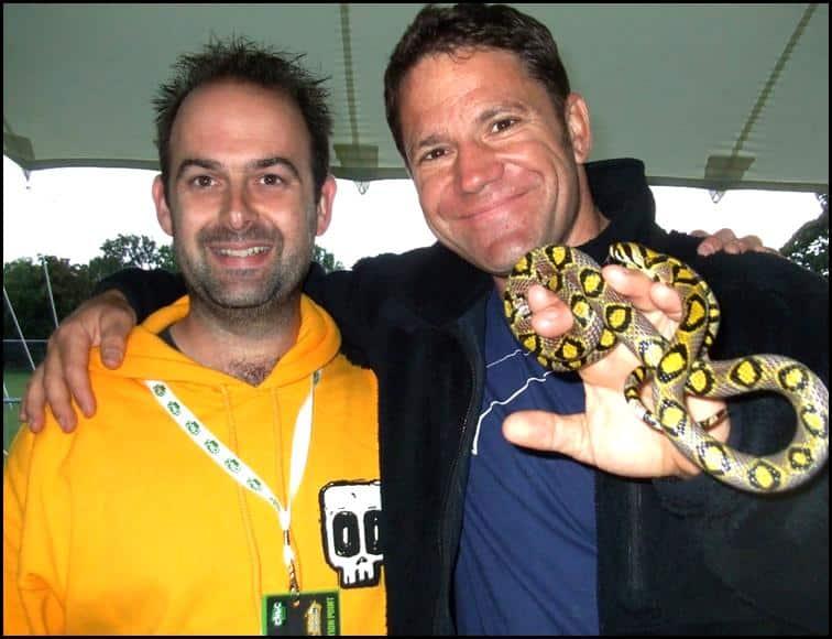 Jonathan with Steve Backshall