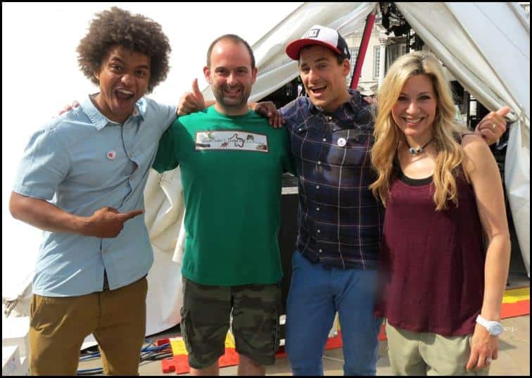 Jonathan with the WILD live team