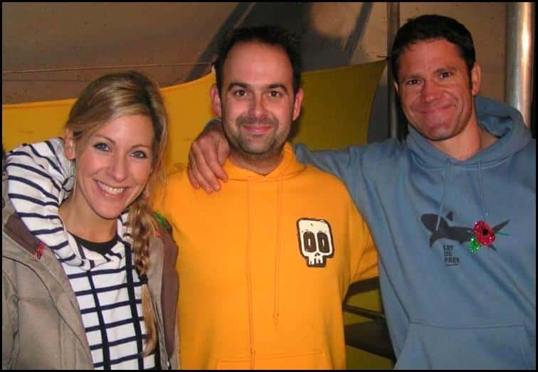 Jonathan with Steve Backshall and Naomi Wilkinson