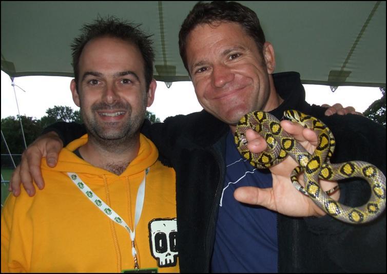 Steve Backshall meets Mei-Ling the Mandarin Rat Snake